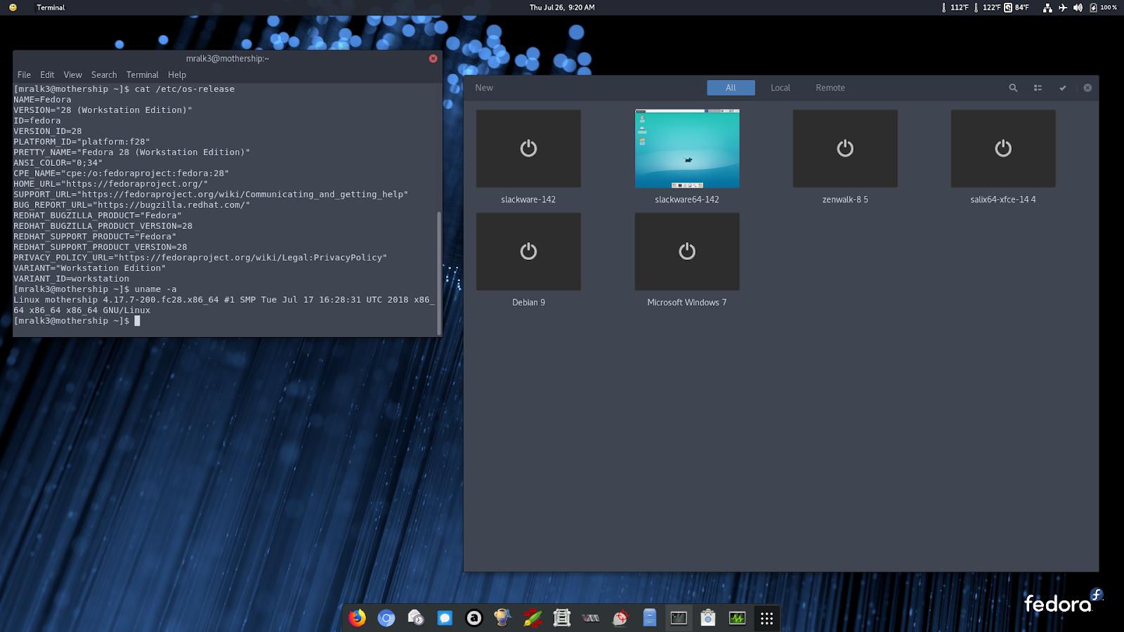 Exit Status One: Run Slackware 14 2 in GNOME Boxes on Fedora 28