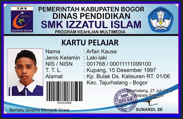 Aplikasi Cetak Kartu Pelajar SD SMP SMA Versi Terbaru Tahun 2017/2018