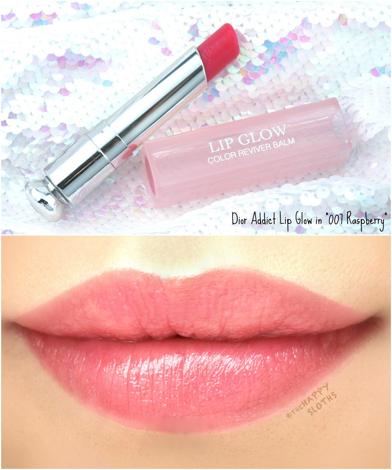 "Dior Addict Lip Glow Color Reviver Balm in ""007 Raspberry"": Review and Swatches"