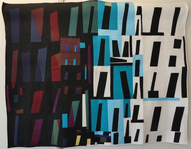 Favela by Martine Laine (France) - Nancy Crow seminar 2015 - Students exhibition