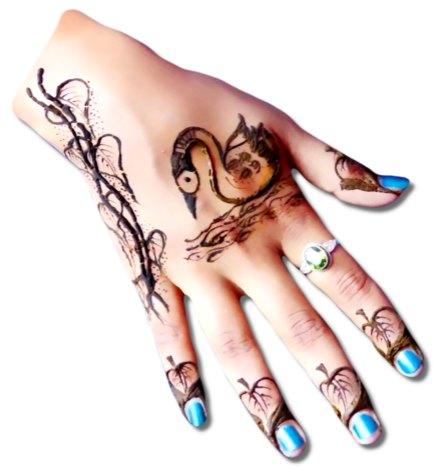 Duck Henna Design