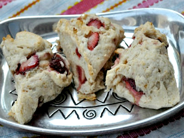 Strawberry Scone (vegan and gluten-free) - Kim's Welcoming Kitchen