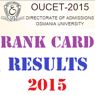 OUCET 2016 Results - OU CET Rank Card 2016