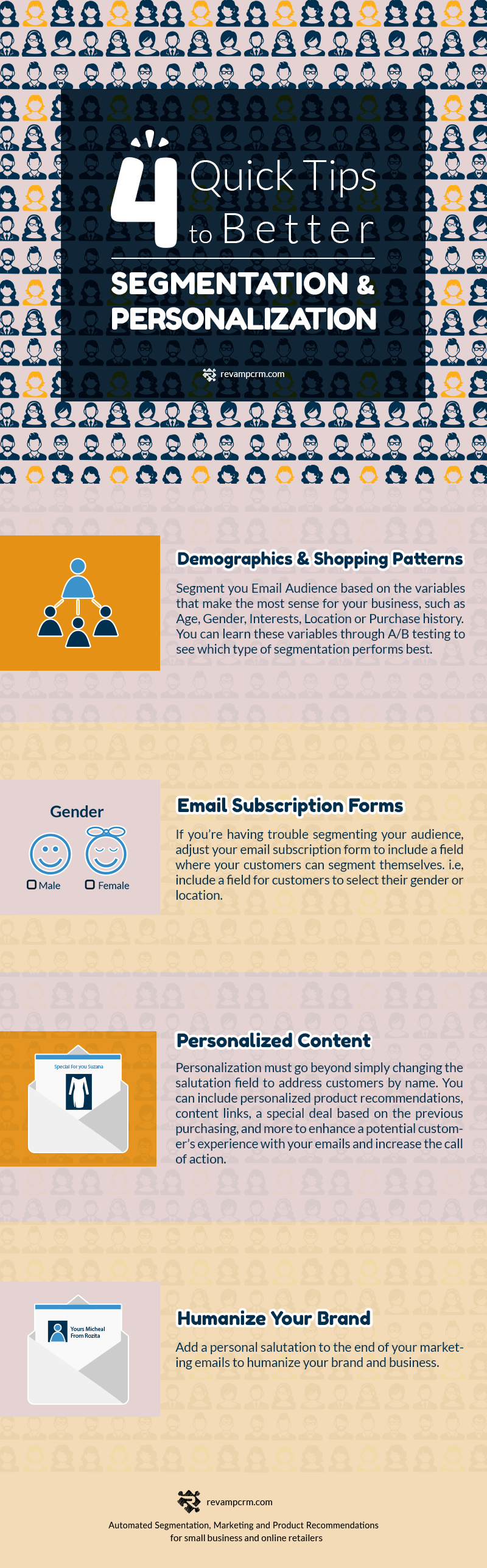 4 Quick Tips To Better Segmentation & Personalization #Infographic