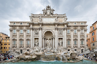 The Trevi Fountain is the largest Baroque fountain in Rome