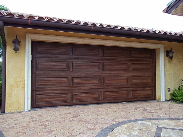 Painting Two Garage Doors To Look Like Wood Grain Everything I