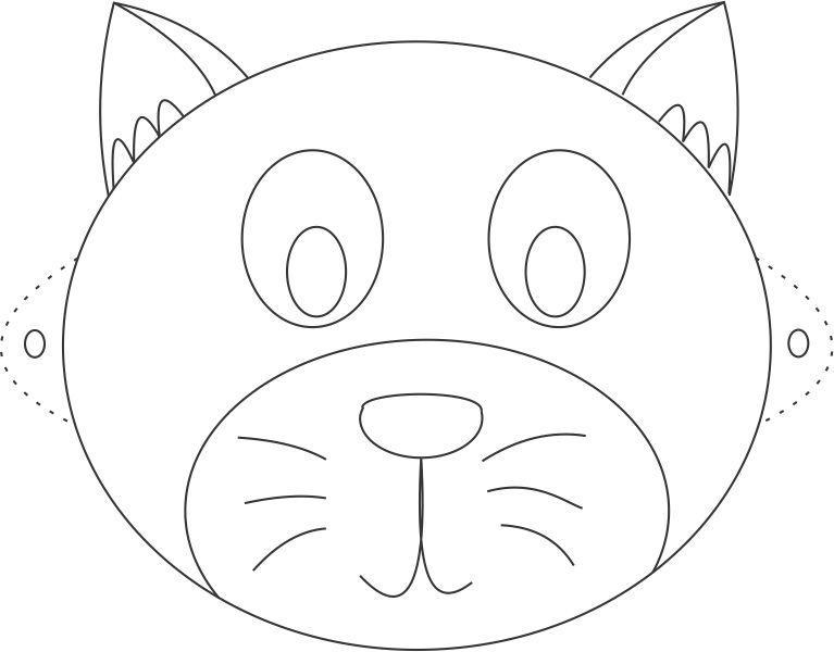 10 m scaras de animais para imprimir blog cantinho for Coloring pages of pussy