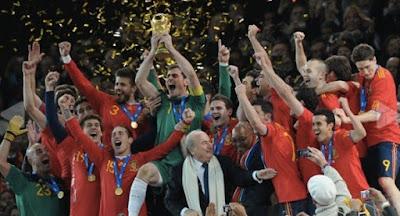 Spanyol merajai Piala Dunia tahun 2010