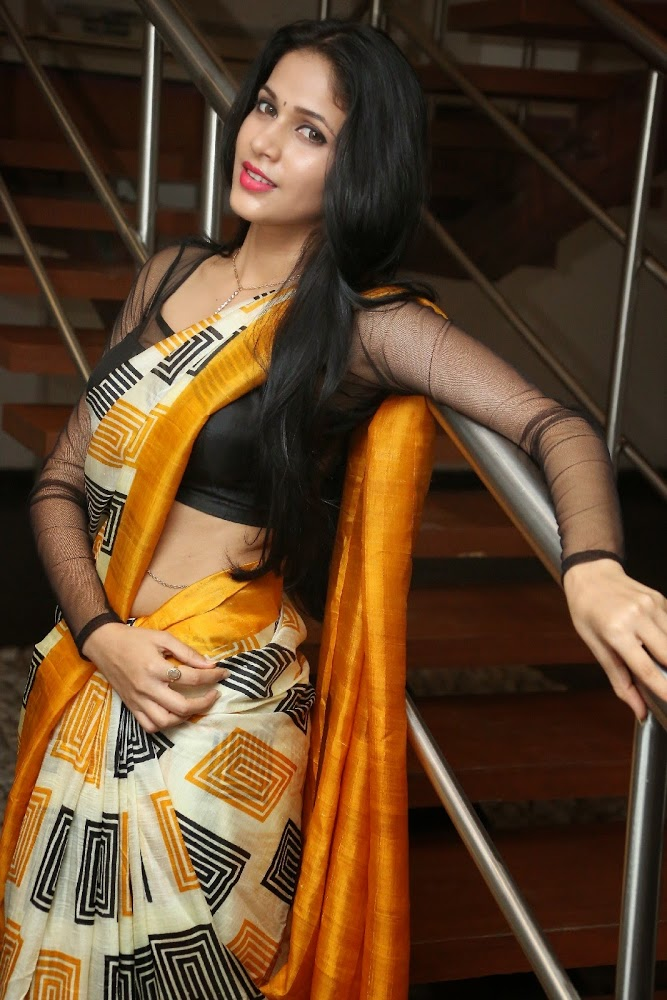 Face Close Up Photos Of Lavanya Tripathi In Yellow Saree