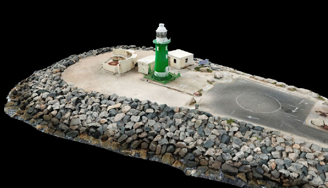 South Mole Lighthouse Fremantle Drone Scan using Drone Deploy - Image 1