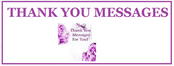 Sample Thank You Messages