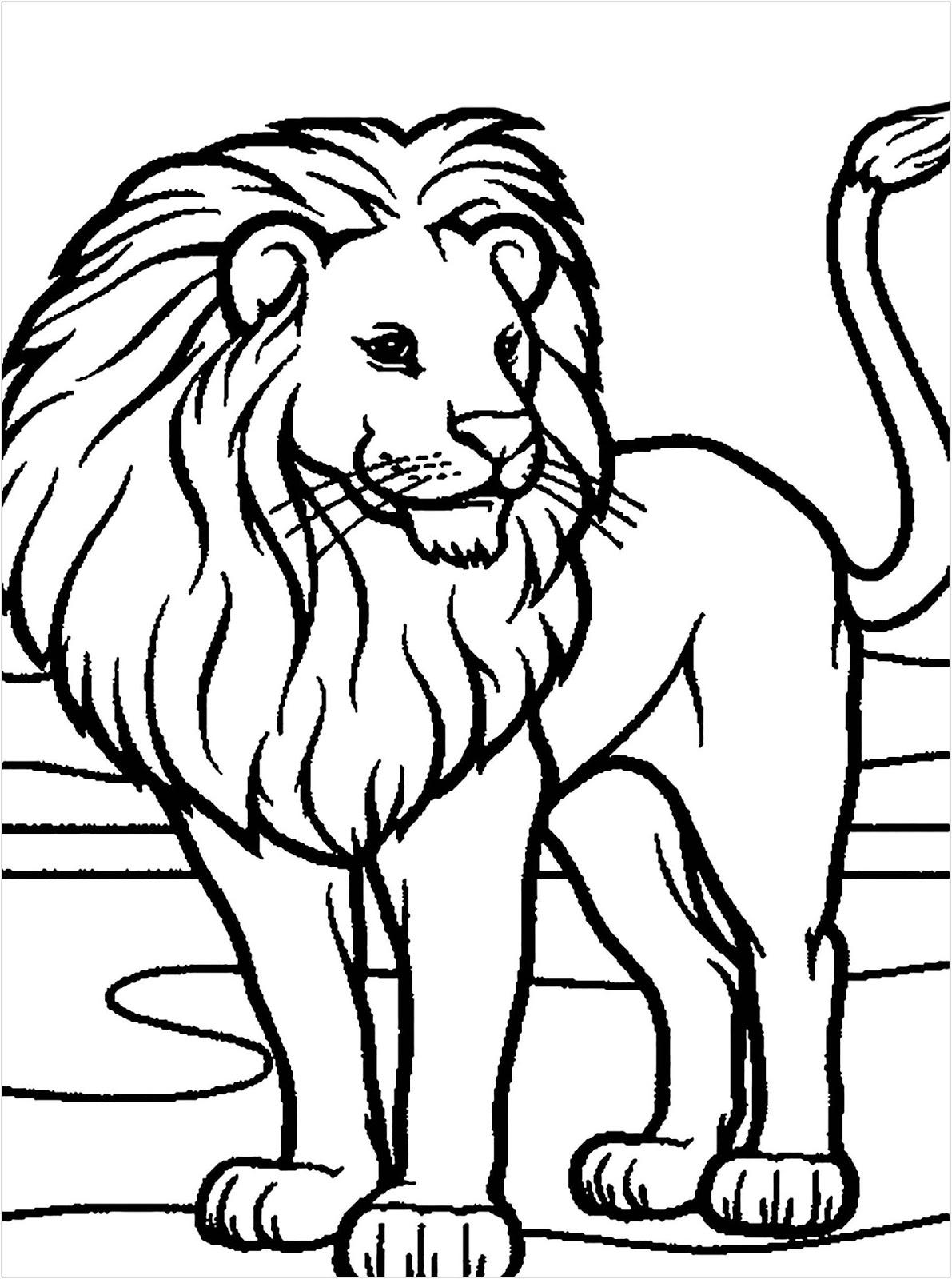 Tranh tô màu con sư tử 9