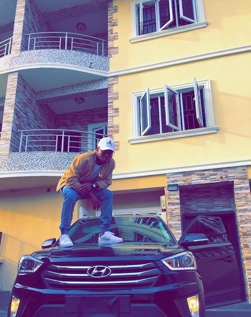 Reekado Banks Show Off His Brand New Car He Won At The 2015 Headies As The Next Rated!
