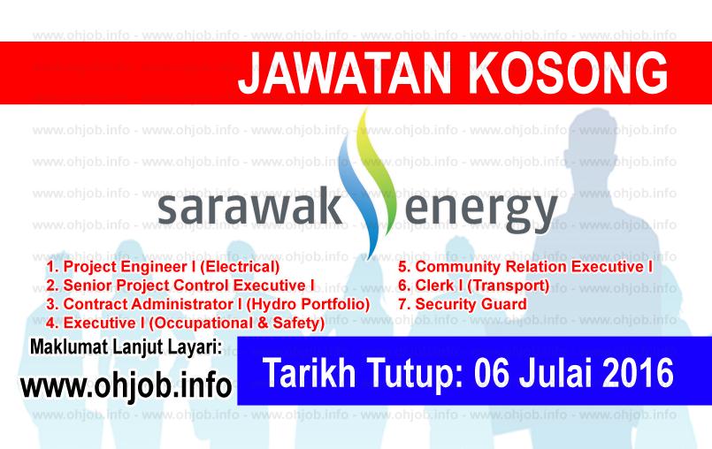 Jawatan Kerja Kosong Sarawak Energy logo www.ohjob.info julai 2016
