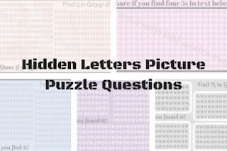 Hidden Letters Picture Puzzle Questions