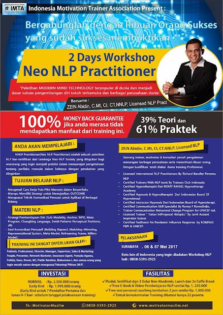 Workshop NLP Surabaya, Pelatihan NLP Surabaya, Belajar NLP Surabaya, Master NLP Surabaya, Trainer NLP Surabaya, NLP Terbaik Surabaya