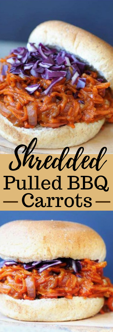 Shredded Pulled BBQ carrots #vegetarian