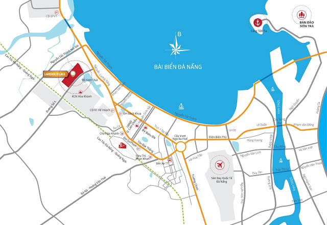 Bản đồ vị trí của LakeSide Palace Đà Nẵng