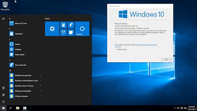 Bộ cài Windows 10 Pro Lite version 1709 phiên bản rút gọn tính năng