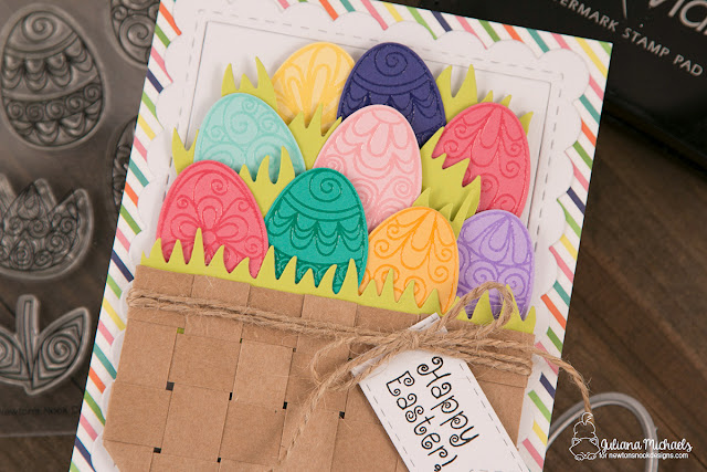 Happy Easter Basket Card by Juliana Michaels featuring Newton's Nook Designs Beautiful Spring