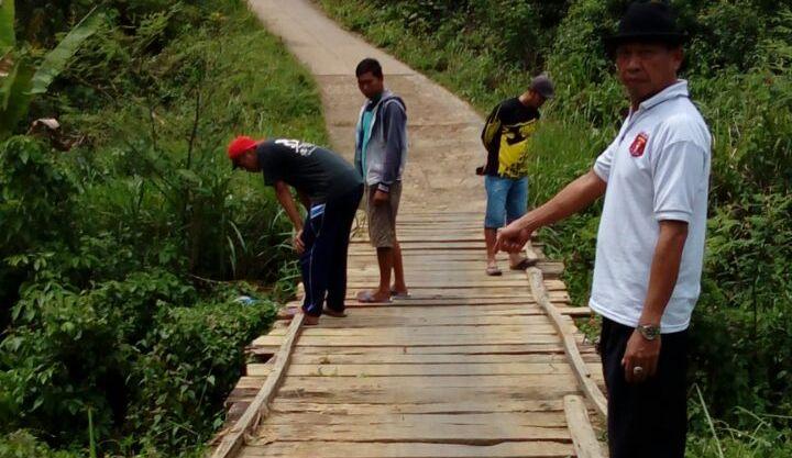 Jembatan di Gunungterang Memperihatinkan, Peratin Mahmuddin Minta Perhatian Pemkab
