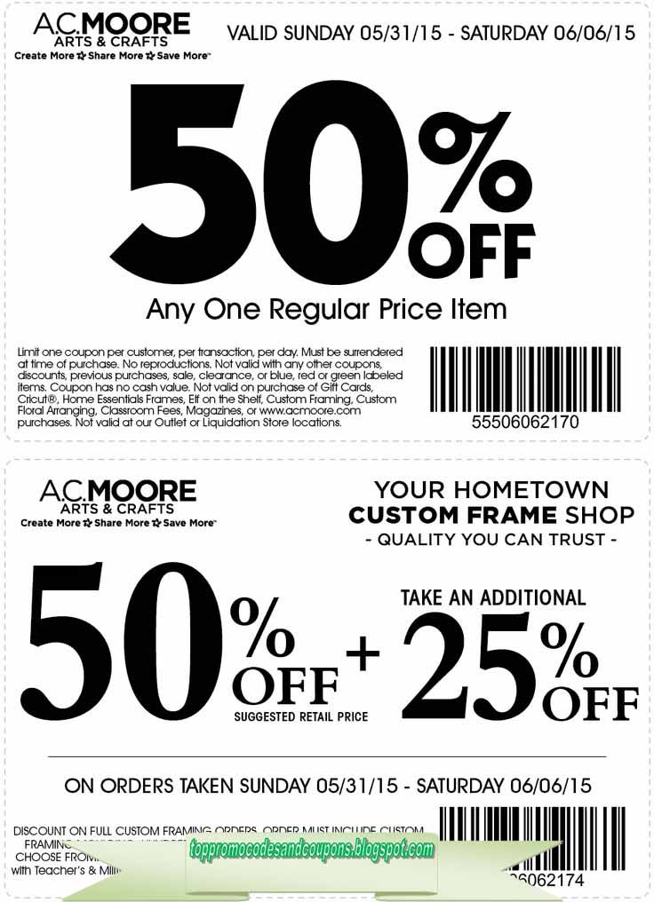 graphic relating to Ac Moore Printable Coupon Blogspot called ac moore promo codes