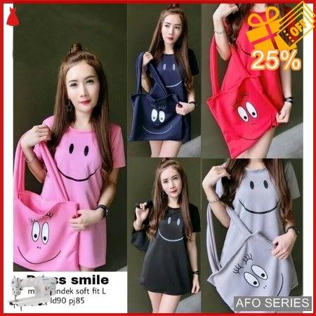 AFO482 Model Fashion Dress Smile Modis Murah BMGShop