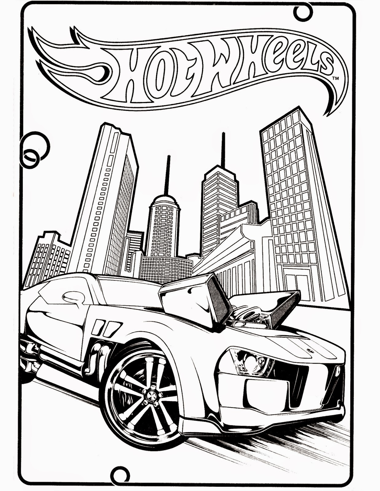 Hot Wheels Coloring Pages 71