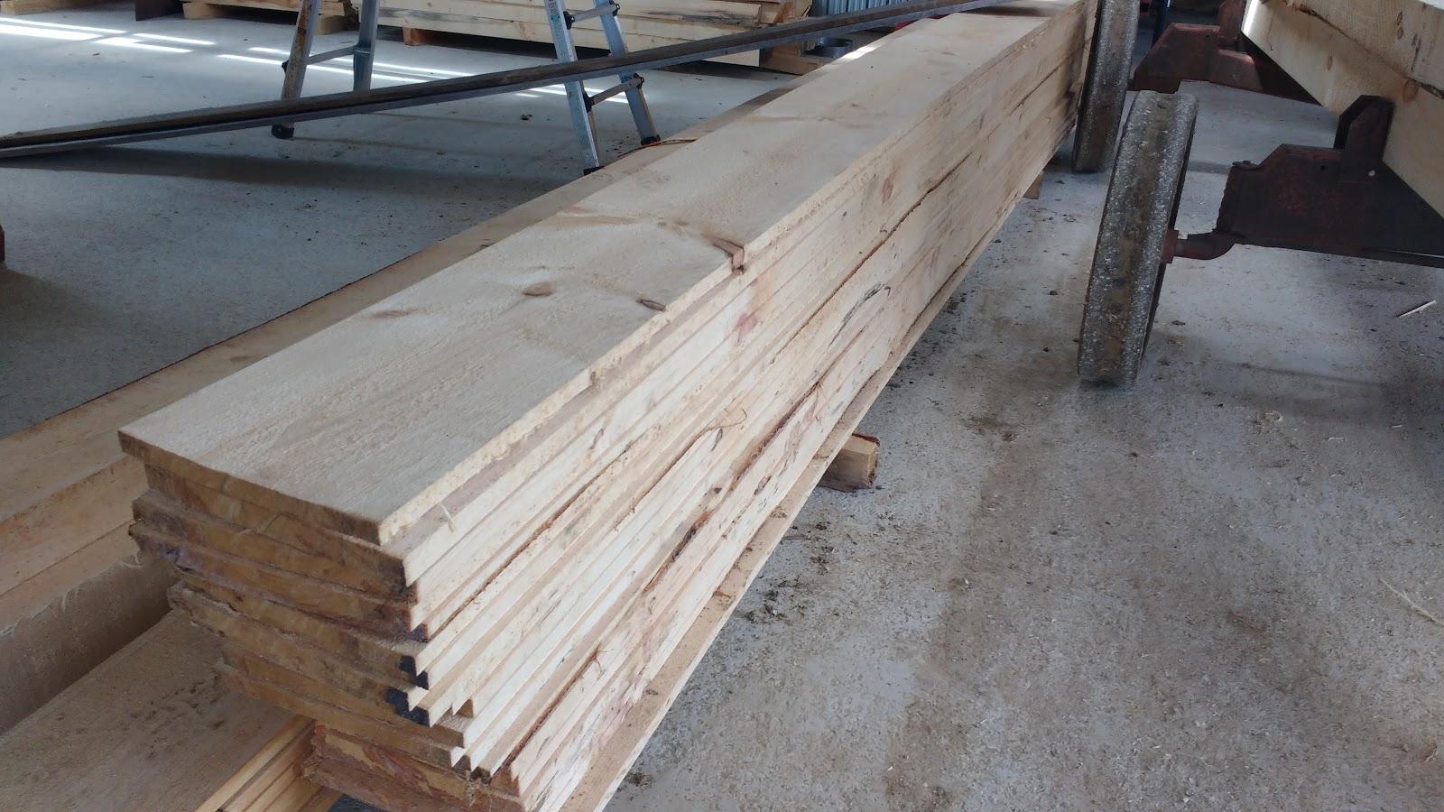 3x8 log siding hand hewn pine - Rough Sawn New White Pine