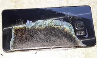 Samsung Galaxy Note 7 Terbakar Sendiri