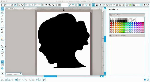 Silhouette Studio, art, DIY, do it yourself, vinyl, cardstock, line color