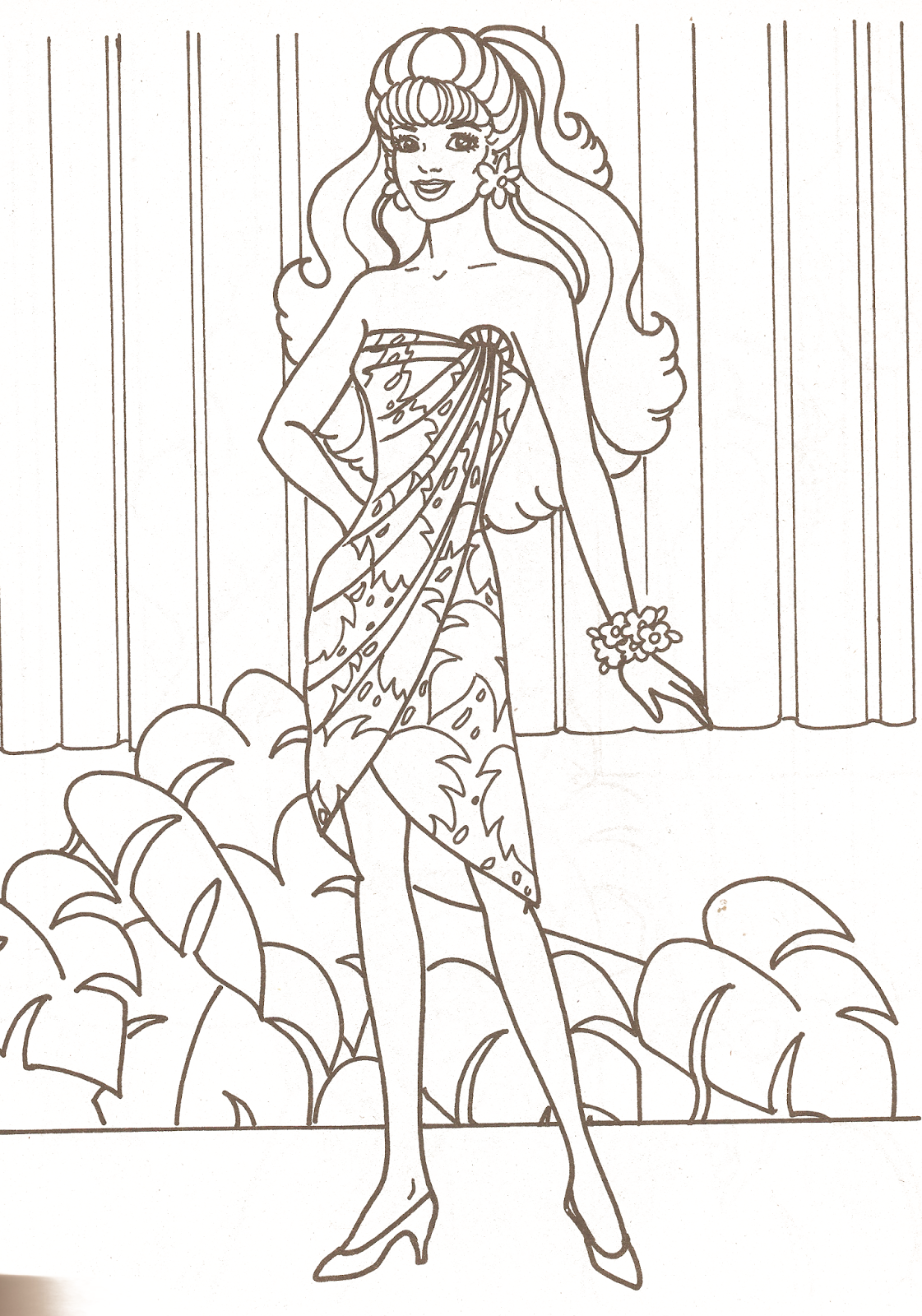 coloring pages book barbie - photo#10