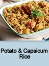 Potato & Capsicum Rice