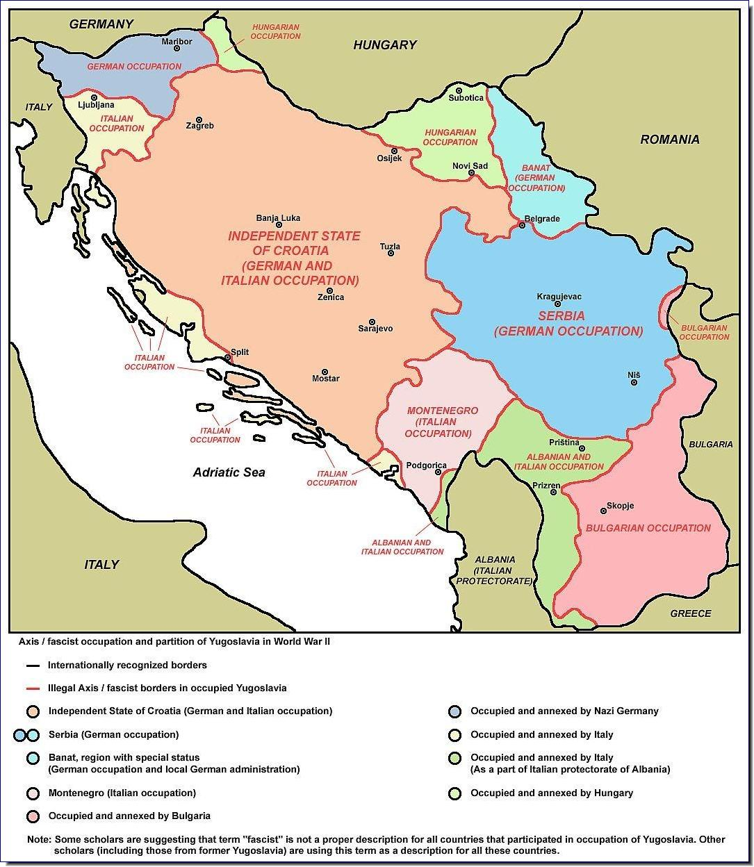 Yugoslavia defeated and dismembered by Germany in April 1941