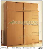 Lemari minimalis model sliding unit cabinet pure