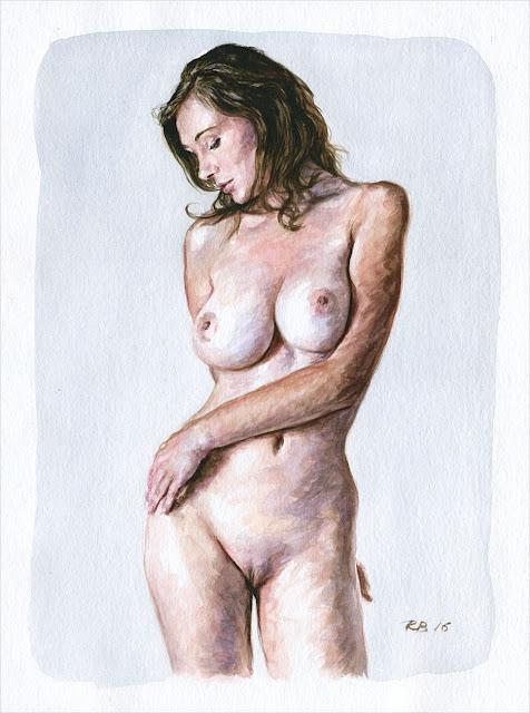 René Bui - Etude de nu à l'aquarelle #160178