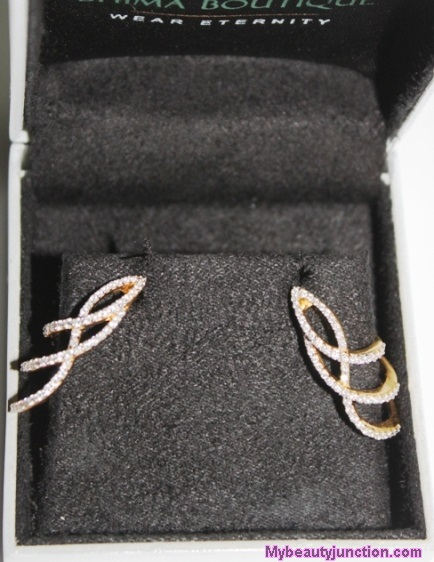 Boutique diamond earrings in yellow gold, 0.88ct