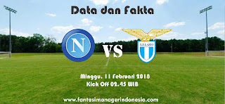 Data dan Fakta Liga Fantasia Serie A Gio 24 Napoli vs Lazio Fantasi Manager Indonesia