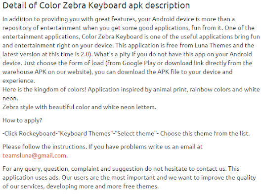 Color Zebra Keyboard 2.0 apk | APKs 4 Fun-Download Android Apps, Games, Apks and Much More
