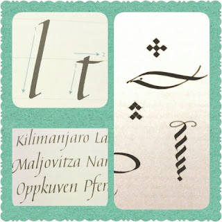 Simply Calligraphy sample collage