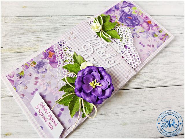 Delikatna ślubna karteczka