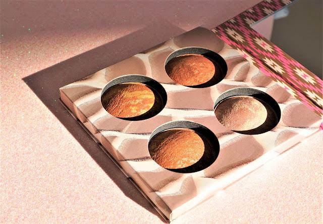 Wild & Radiant, palette de poudres cuites illuminatrices et bronzantes bh cosmetics