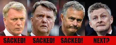 Sacked Man Utd managers