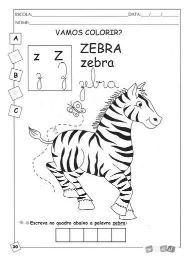 Alfabeto Ilustrado A A Z Para Cobrir Colorir Escrever
