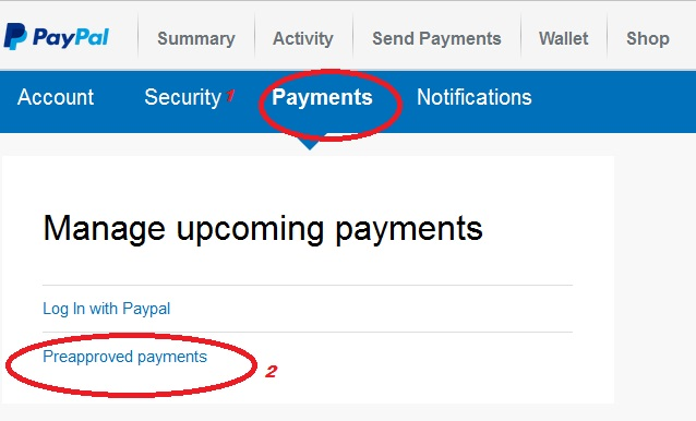 Paypal turn off automatic payments