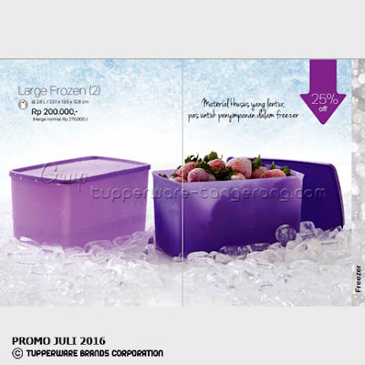 Large Frozen ~ Katalog Tupperware Promo Juli 2016