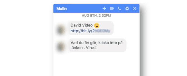 احترس من هذا الفيروس ينتشر عن طريق مسنجر الفيسبوك