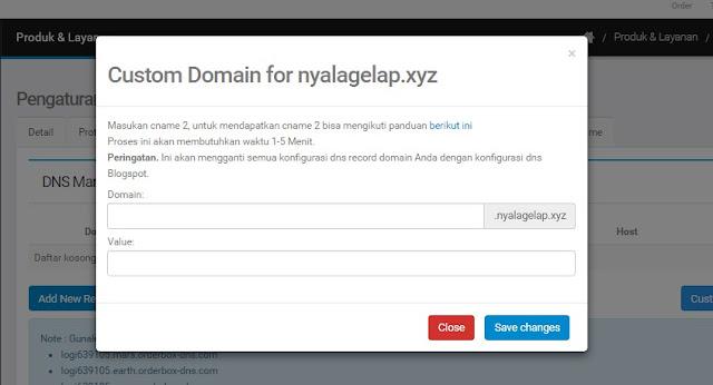 Menghubungkan domain LTD ke blogspot di NiagaHoster
