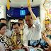 Presiden Jokowi dan Para Menteri Coba Naik MRT Jakarta