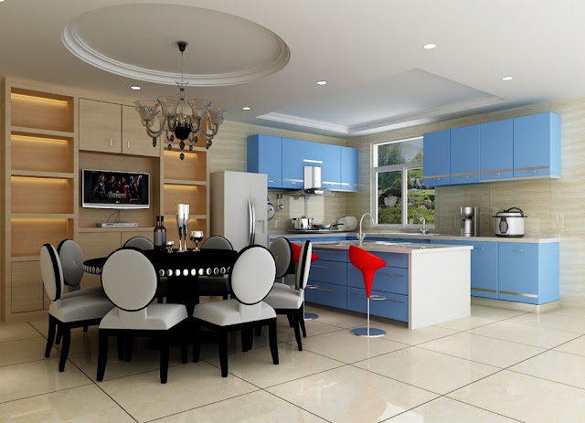 Design 3D Kitchen And Dining Room Interior Design Images